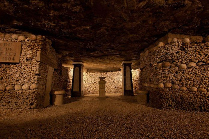 Catacombs of Paris: When Paris was so overwhelmed with corpses that 6 million skeletons were shifted underground