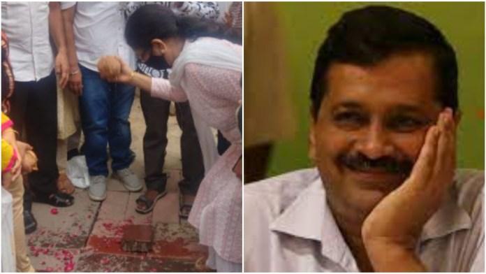 AAP's Moti Nagar MLA Shiv Charan Goel was seen bragging about the 'inauguration' of a speed breaker