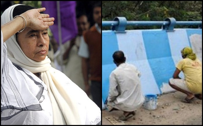 Blue and white: How Mamata Banerjee put the 10 million people of Kolkata through a party loyalty test