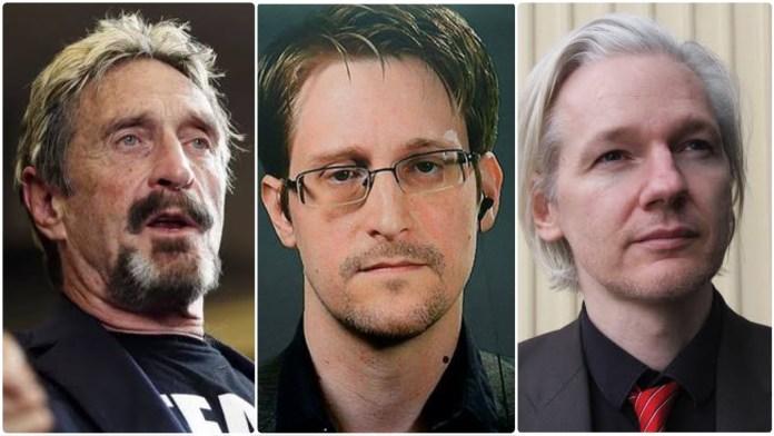 US whistleblower Edward Snowden warns Julian Assange could be next after John McAfee was found dead under mysterious circumstances