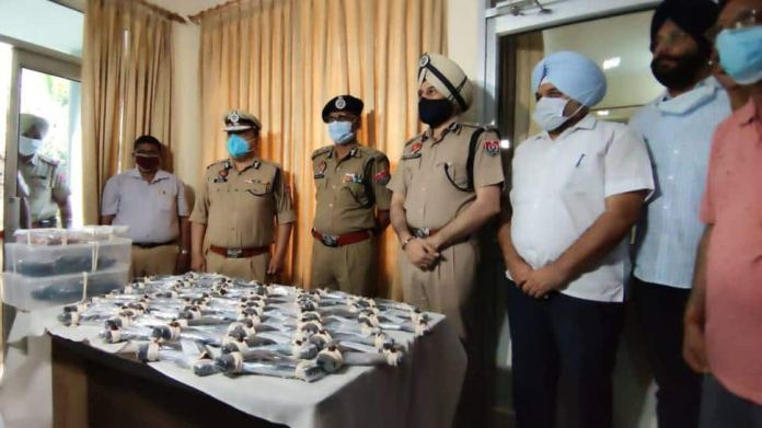 Punjab Police thwarts a major terror attack, arrests a person and recovers 48 foreign-made pistols from him