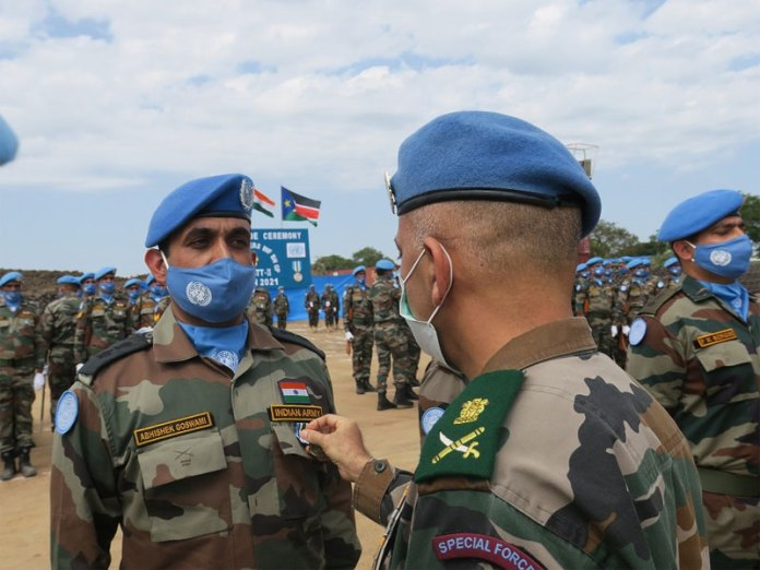 Indian Troops get UN medal for outstanding performance in UN peacekeeping missions