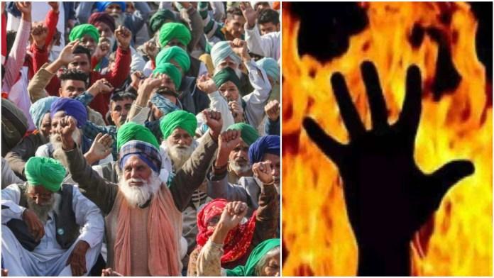 Man dies after drunk protestors at Tikri Border set him on fire over a dispute