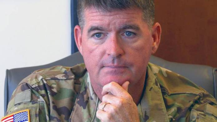 US Army major General Patrick Donahoe suffers a meltdown after Twitter user questions him on his tweet