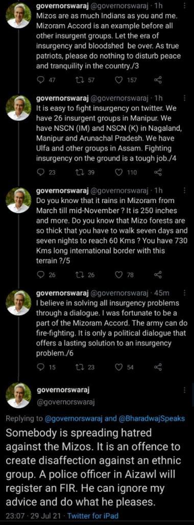 Governor Swaraj vs True Indology