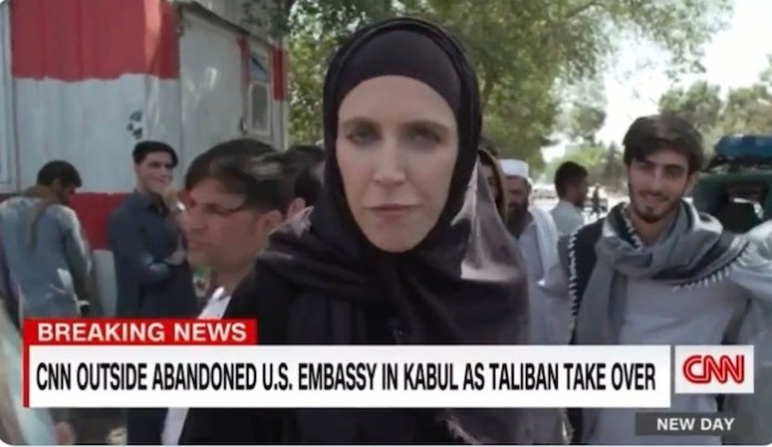 Hijab wearing CNN reporter describes Taliban terrorists chanting 'Death to America' as 'friendly', gets ridiculed