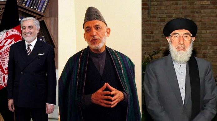 Abdullah Abdullah, Hamid Karzai, Gulbuddin Hekmatyar