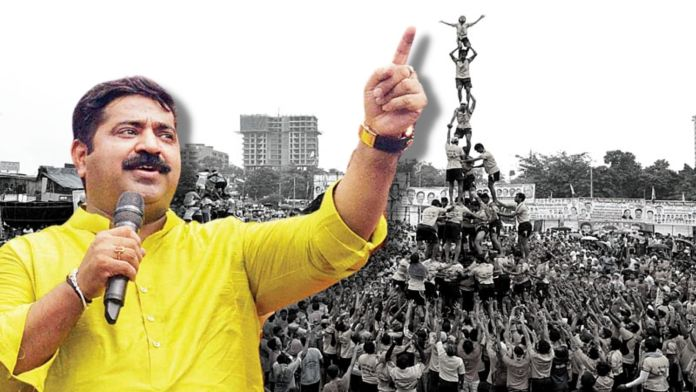 BJP leader Ram Kadam lambasts MVA govt for stopping Dahi Handi celebrations on Janmashtami