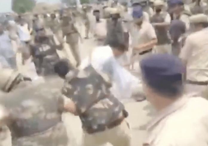 Rabble rousers lathi charged at Bastara toll plaza in Haryana