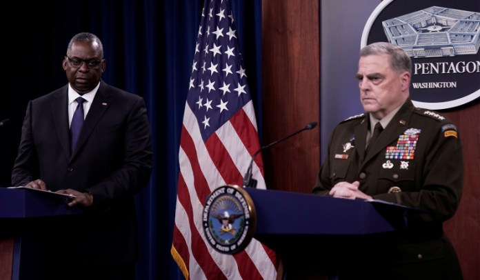 Secretary of Defense Lloyd Austin and Chairman of the Joint Chiefs of Staff General Mark Milley