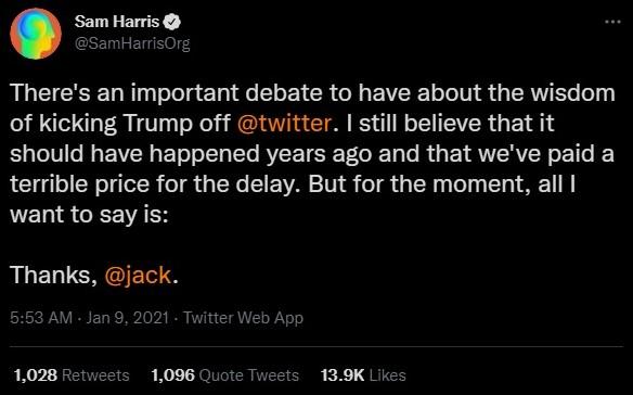 Sam Harris on Donald Trump