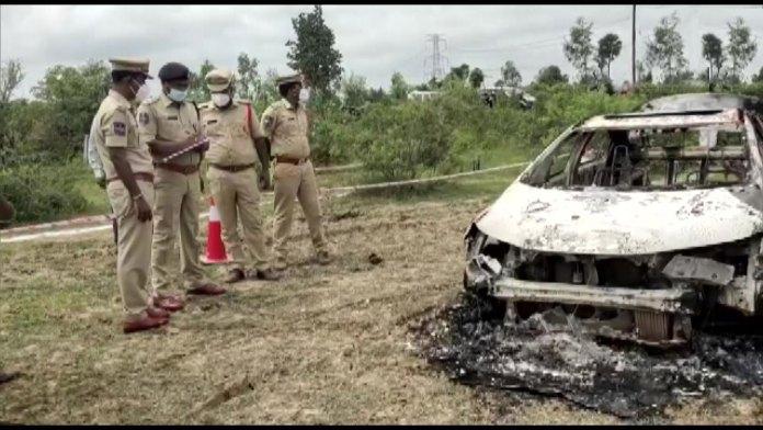 Telangana: BJP leader found dead inside trunk ion his burnt car