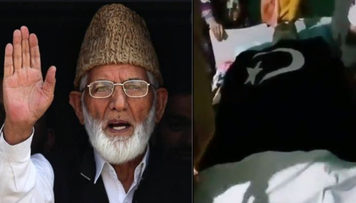 Family members of Syed Geelani booked for wrapping his body in Pak flag