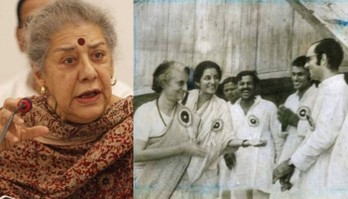 Ambika Soni, who recently declined the offer to become Punjab CM, was Sanjay Gandhi's aide during Emergency