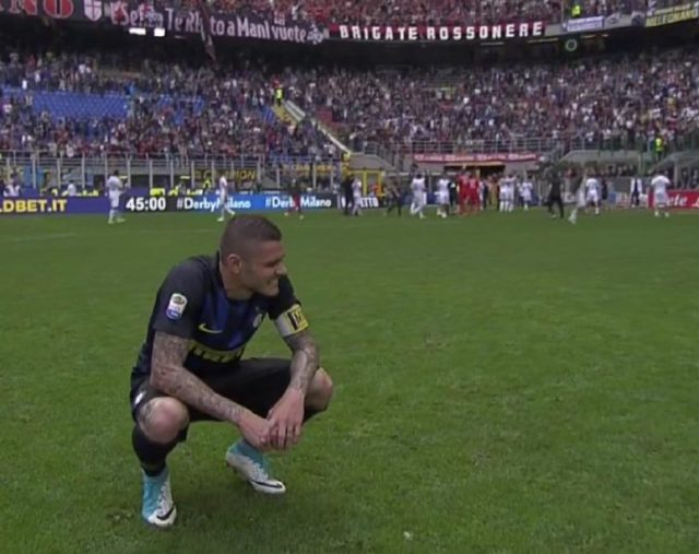 derby cinese, lacrime Icardi