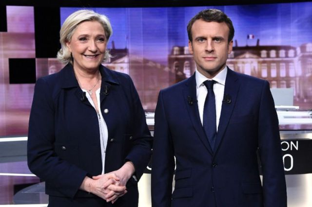Marine Le Pen e Emmanuel Macron all'ultimo duello in tv