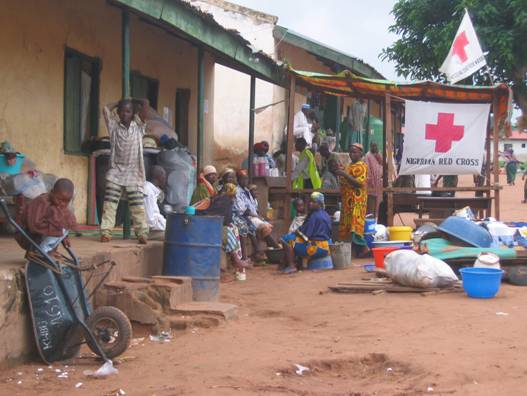 Self formed camp of some displaced people in Nasarawa State