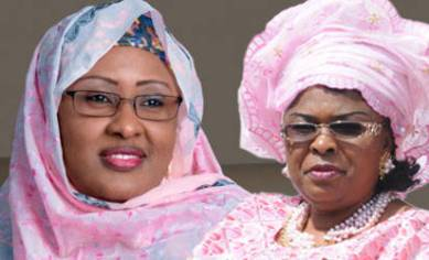 Aisha Buhari and Patience Jonathan