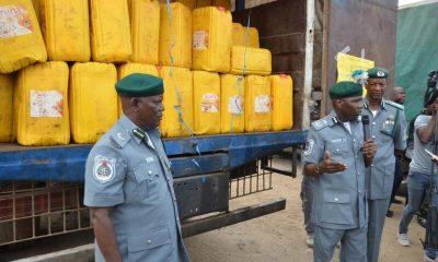 Pic 5. Inspection of Smuggled Items in Lagos