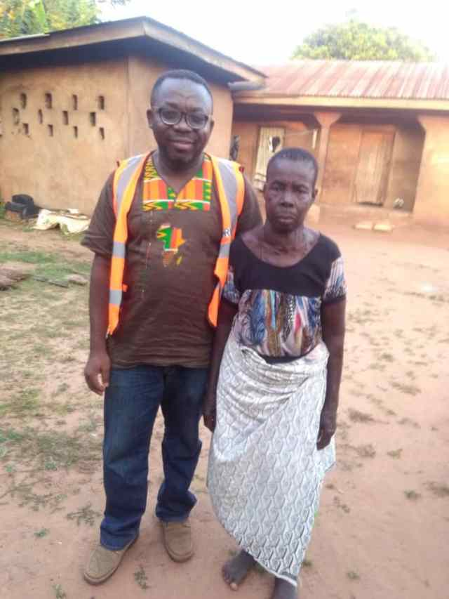 Leo Igwe with a woman