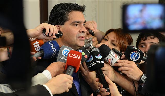 Jorge Capitanich Jefe de Gabinete con la prensa esta mañana - Foto: Presidencia de la Nación