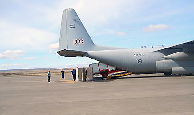 El TC-100 en el aeropuerto de 28 de Noviembre - Foto: Gentileza Patagonianexo