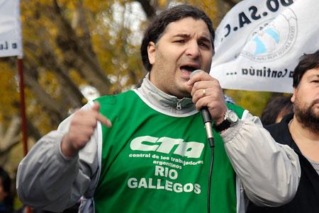 Alejandro Garzón de ATE CTA – Foto: OPI Santa Cruz/Francisco Muñoz