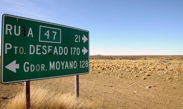 El ingreso hacia la ruta provincial Nº 47 camino a Puerto Deseado – Foto: OPI Santa Cruz/Francisco Muñoz