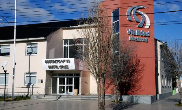 Las oficinas de Vialidad Nacional en Río Gallegos - Foto: OPI Santa Cruz/Francisco Muñoz