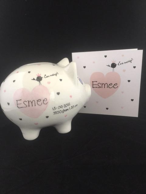 Geboortespaarvarken Esmee