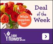 Deal of the Week! Red Roses, Buy 12 Get 12 Free + Free Red Vase Only $34.99! (Reg. $61.99). Order Now at 1800flowers.com! (While Supplies Last)