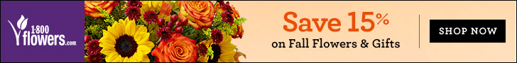 Save 15% on Spring Flowers and Gifts at 1800flowers.com and be the reason they...smile! Use Promo Code SAVEFFTN at checkout.