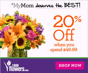 Save 20% on $49.99 & Up on Mother's Day Flowers & Gifts at 1800flowers.com. Use Promo Code MDAY49 at checkout. (Offer Ends 05/11/2014)