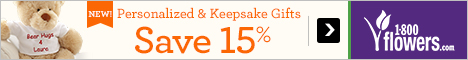 Save 15% on Personalized & Keepsake Gifts at 1800flowers.com! Use Promo Code: GFTFFTN at checkout.