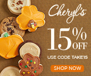 Enjoy Valentine's Day! Save 15% Off sitewide and share delicious cookies, brownies, cakes and more at Cheryls.com! Use promo code TAKE 15
