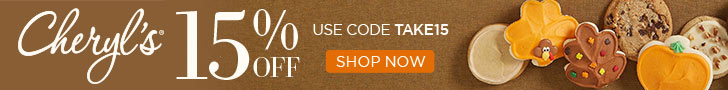 Celebrate Halloween and take 15% OFF at Cheryls.com! Use code TAKE15 (While supplies last)