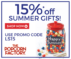 Save 15% on our premium Gourmet Popcorn, Snack Assortments, Gift Tins, Towers, Samplers and more at ThePopcornFactory.com! (offer valid until 09/30/14) Use promo code LS15