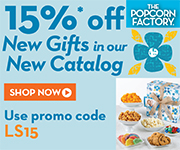 Save 15% on popcorn and treats from ThePopcornFactory.com! Use code: LS15