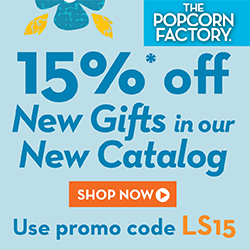 Holiday Season Sale! Shop now and Save 15% off Delicious Popcorn Gift Tins, Towers, Baskets, and more available at ThePopcornFactory.com! (valid until December 31, 2013) Use promo code JINGLE15