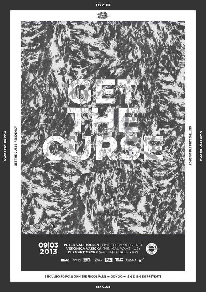 GET THE CURSE AU REX CLUB flyer
