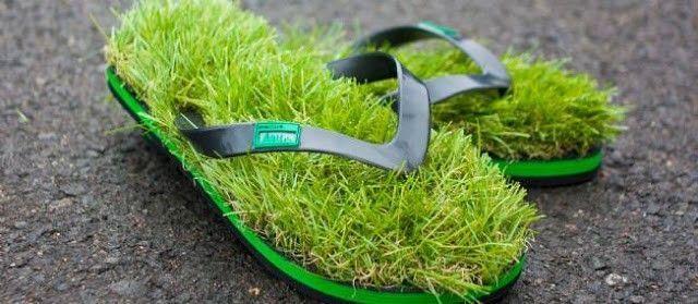 pires tong herbe