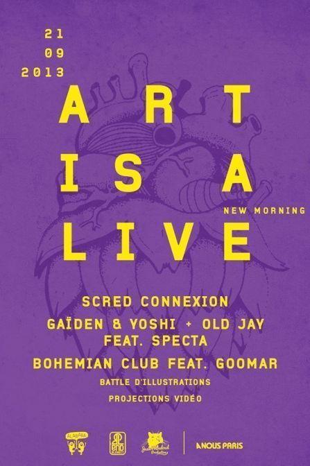 art is a live