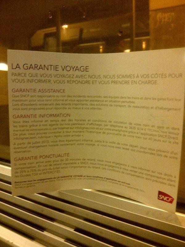 SNCF vous garantit le voyage parfait