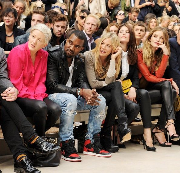 fashion week front row
