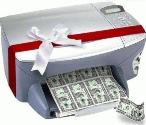 print dollars