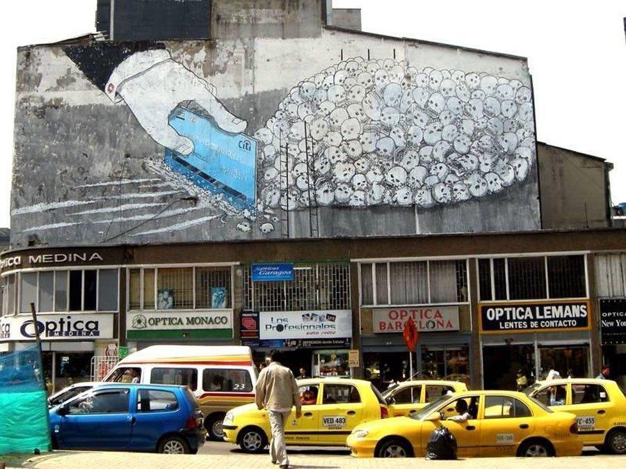 Blu peinture murale