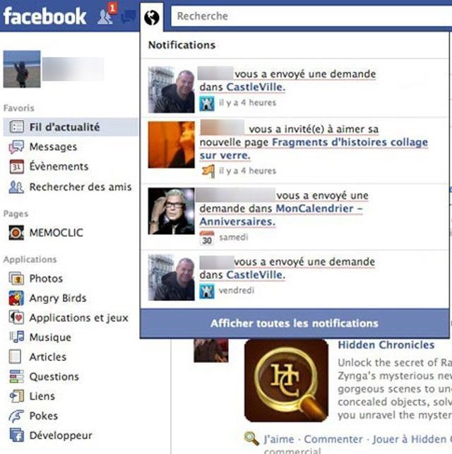 facebook-notifications Jeux