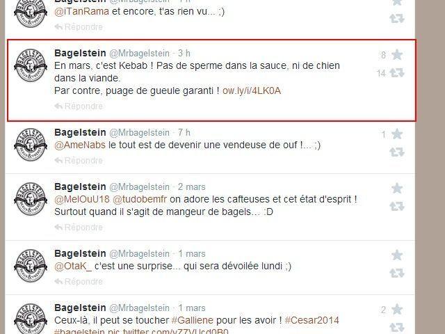 Bagelstein tweeter