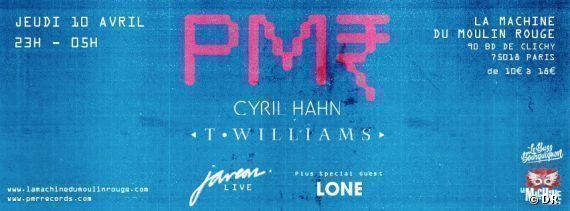 PMR - Records label - Night - Cyril Hahn - T - Williams - Lone
