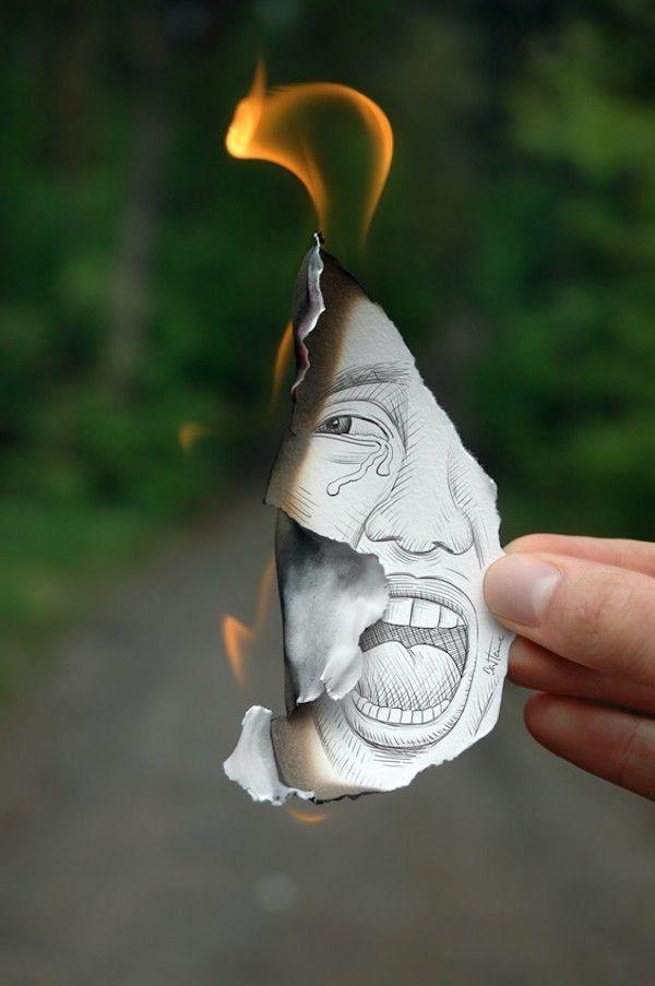 ben heine homme feu